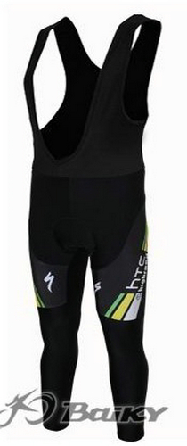 HTC-Highroad Pro Team lange cykelbukser Bib Sort