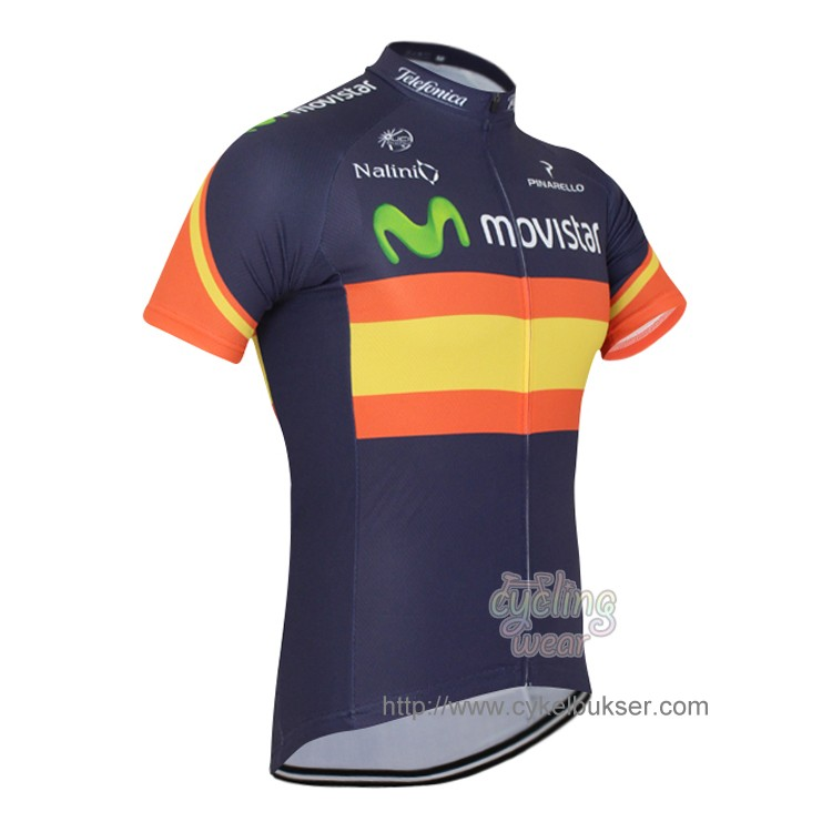 Movistar Team Spain cykeltrøje korte ærmer