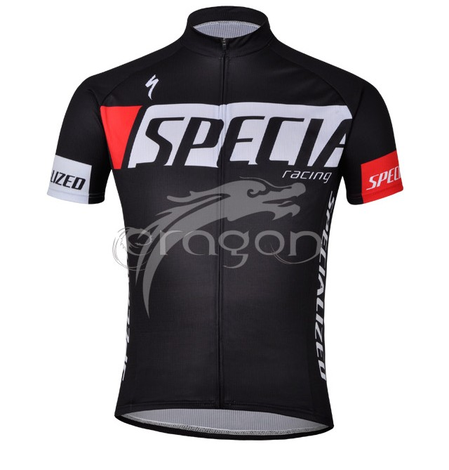 Specialized Racing cykeltrøje korte ærmer Sort