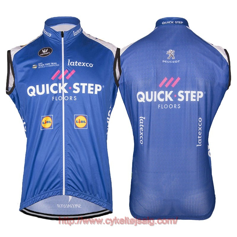 2017 quick step floors blå Cykel Veste