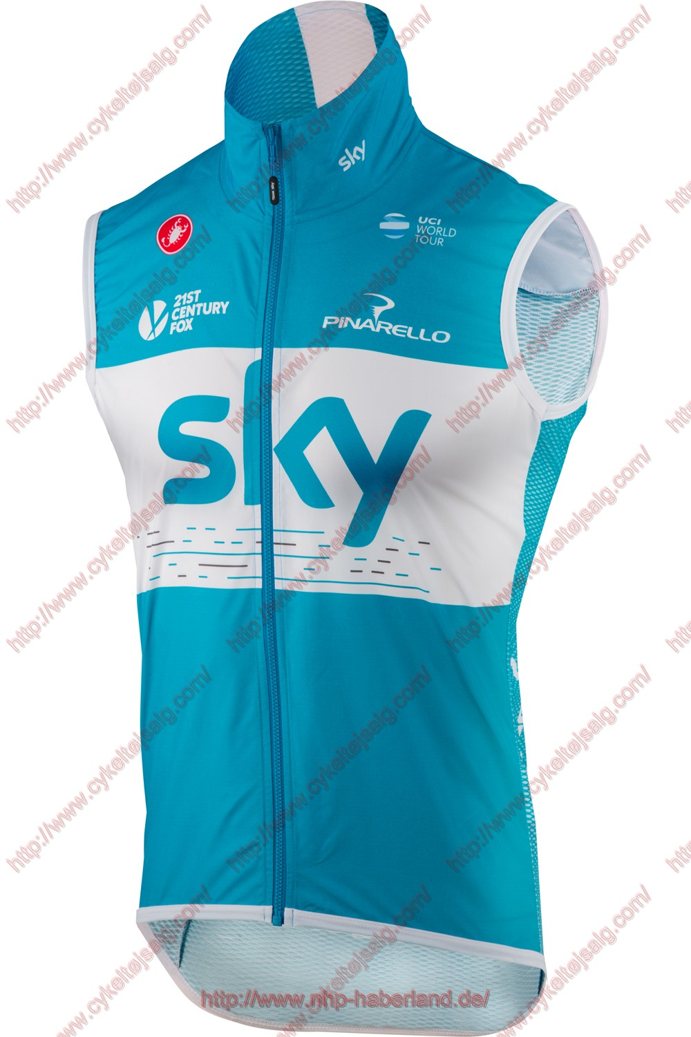 Team Sky 2018 blå Windstopper CykelVest