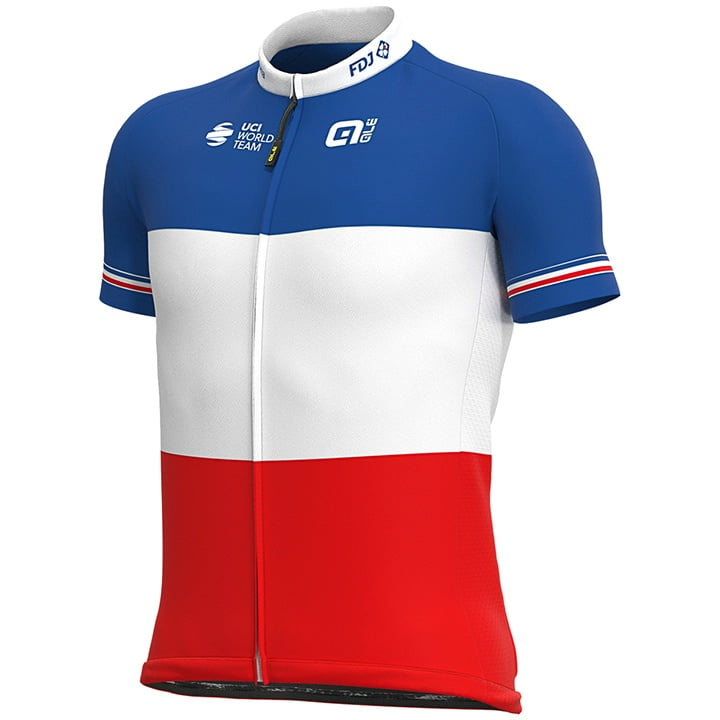 GROUPAMA-FDJ France Champion 2020 Cykeltrøjer med Korte ærmer Outlet