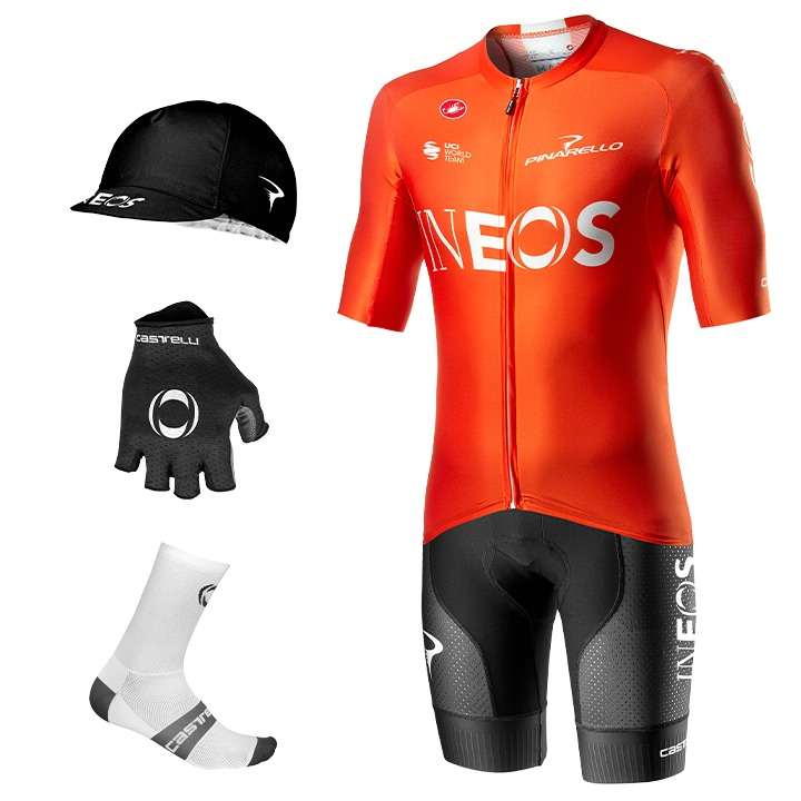 Maxi-Set TEAM INEOS Aero Race 6.0 Training 2020 (5 Teile) Tenue Cyclisme