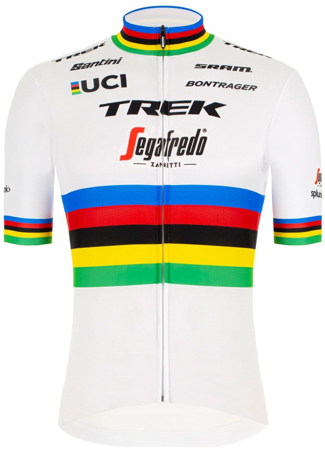 TREK - SEGAFREDO 2020 Road bike world champion Cykeltrøjer med Korte ærmer Outlet